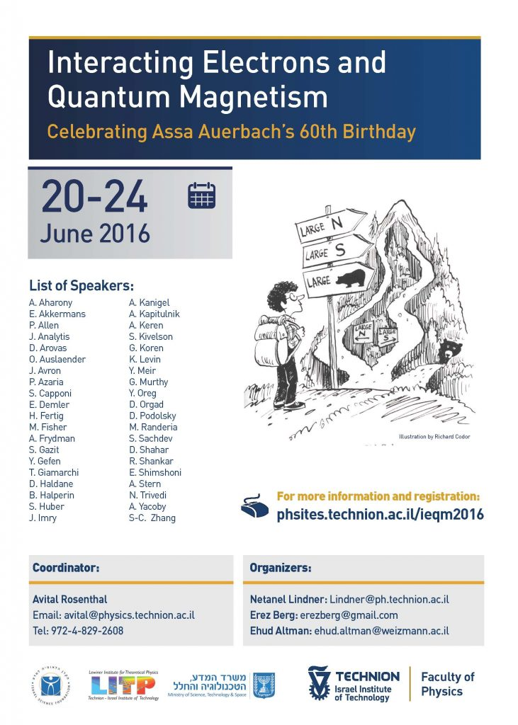 Interacting Electrons and Quantum Magnetism: Celebrating Assa Auerbach's 60th Birthday 20-24 June 2016