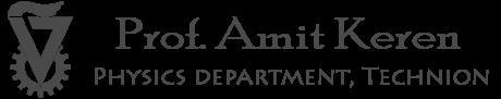 Amit Keren logo, back to homepage