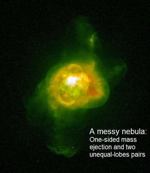 NGC 6210 is an example of a `messy' planetary nebula that has no symmetry at all