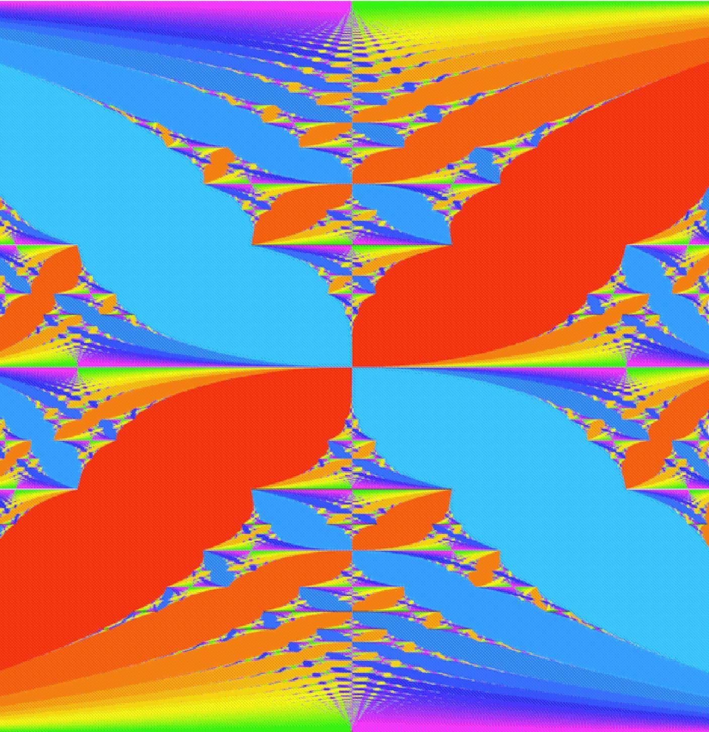 Colored Hofstadter Butterffly