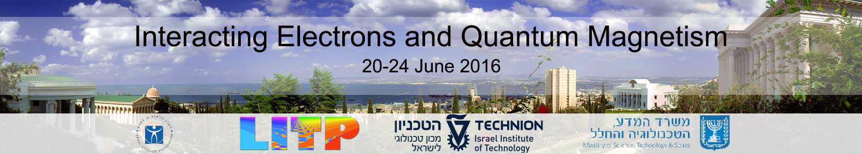 Interacting Electrons and Quantum Magnetism 20-24 june 2016 - banner