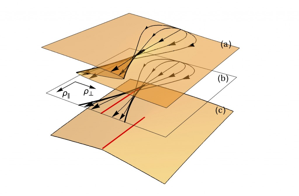 an illustration of the structure of a cusp singularity appearing in large deviation functions.