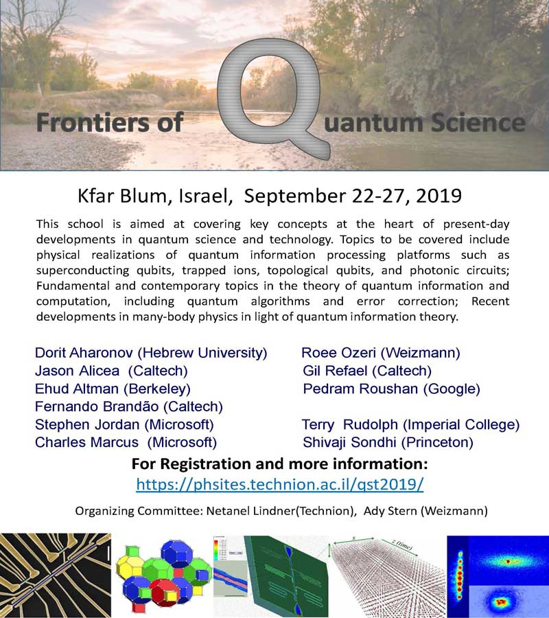 Conference poster: Frontiers of quantum Science 2019