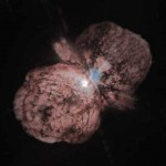 The nebula around the massive star Eta Carinae that was ejected in the 1837-1856 outburst.