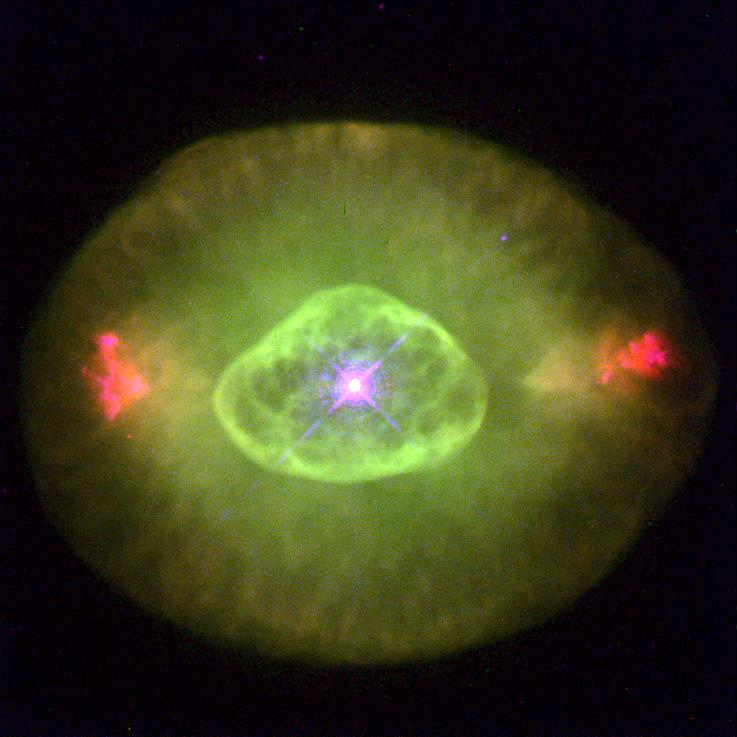 The elliptical planetary nebulae NGC 6826 (the colors are not real)