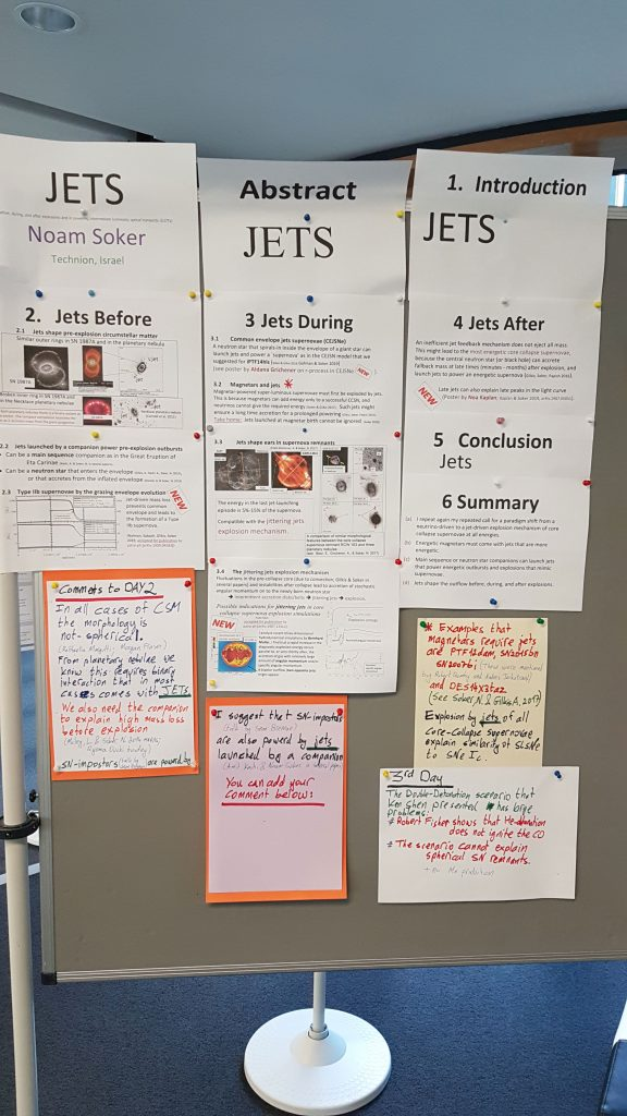 poster in a meeting on supernova (September 2019)